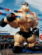 25 feet tall Muscle Man shape cold-air advertising balloon-rental advertising balloons.